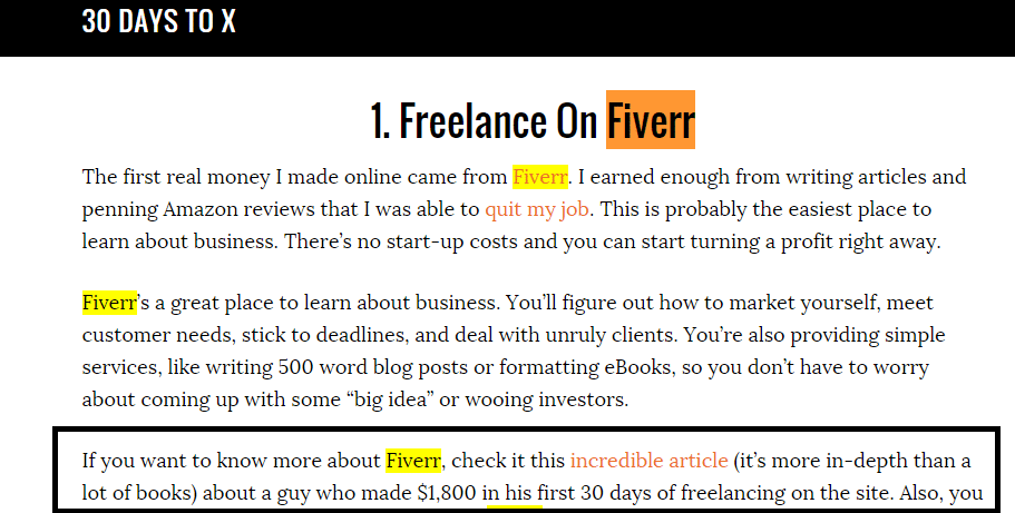 making money on fiverr
